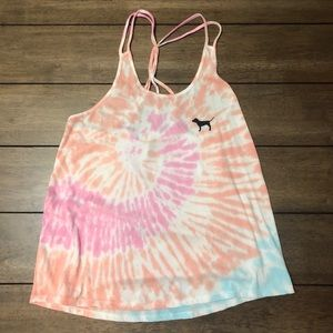VS tie-dyed strappy tank top